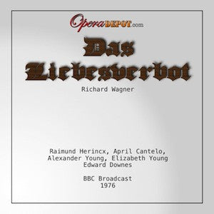 Wagner: Das Liebesverbot - Young, Castelo, Herincx, Gale, Caley; Downes. London, 1976