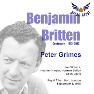 Britten: Peter Grimes - Vickers, Harper, Bailey, Begg, Bainbridge, Howell, Allen, Robinson; Davis.  London, 1975