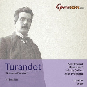 Puccini: Turandot (In English) - Shuard, Kaart, Collier, Rouleau, Tree, MacDonald; Pritchard.  London, 1960