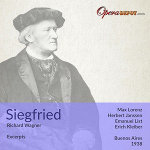 Wagner: Siegfried (excerpts) - Lorenz, Janssen, Witte, List, Widermann; E. Kleiber
