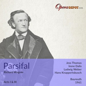 Wagner: Parsifal (excerpts from Act I & III) - Thomas, Dalis, Weber (Gurnemanz), London; Knappertsbusch. Bayreuth, 1961