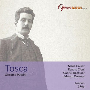 Puccini: Tosca - Collier, Cioni, Bacquier; Downes. London, 1966