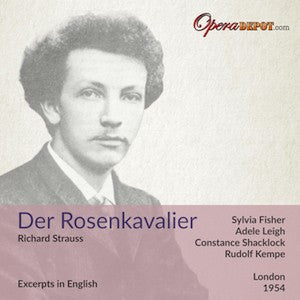 Strauss: Der Rosenkavalier (Excerpts In English) Fisher, Shacklock, Leigh, Howell; Kempe. London, 1954