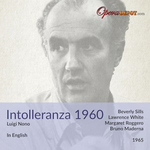 Nono: Intollerenza 1960 (In English) - Sills, White, Bertolino; Maderna. 1965