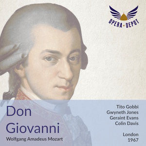 Mozart: Don Giovanni (excerpts) - Gobbi, Jones, Vaughan, Evans, Shirley, Kern, Ward, Bryn-Jones; Davis. London, 1967