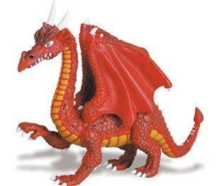 Red Dragon Miniature from Safari - AardvarksToZebras.com