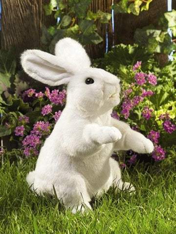 Standing White Rabbit Hand Puppet from Folkmanis Puppets