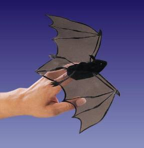 Mini Bat Finger Puppet from Folkmanis Puppets