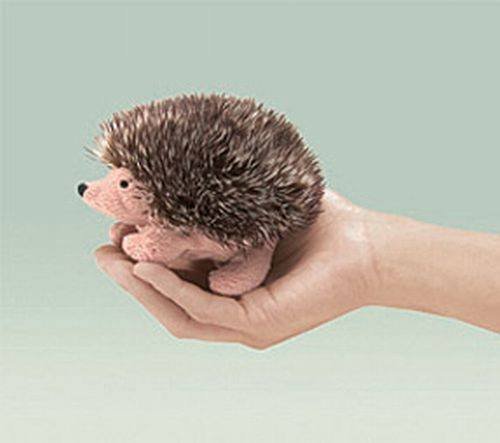 Mini Hedgehog Finger Puppet from Folkmanis Puppets - AardvarksToZebras.com
