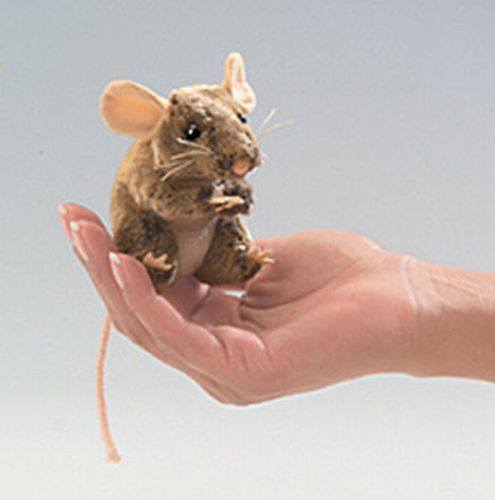 Mini Mouse, Field Finger Puppet from Folkmanis Puppets - AardvarksToZebras.com