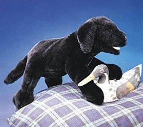 Black Labrador Puppy Hand Puppet from Folkmanis Puppets