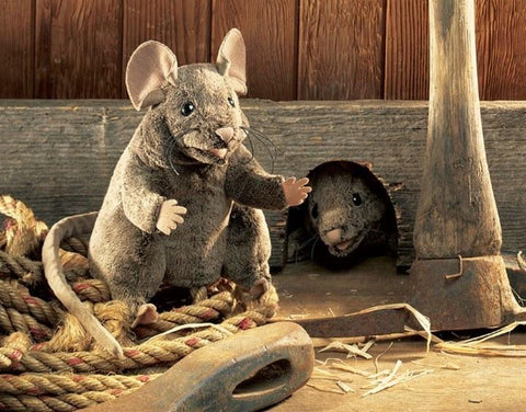 Brown Mouse Hand Puppet from Folkmanis Puppets
