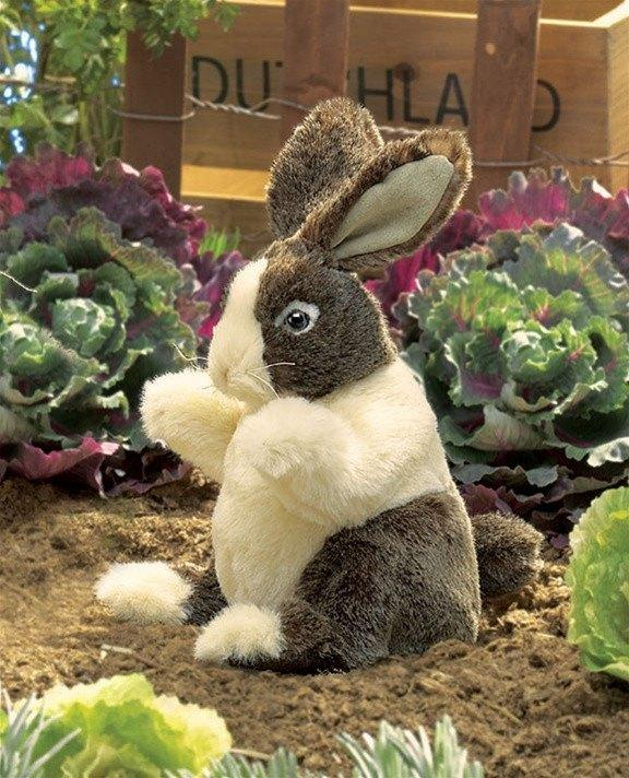 Dutch Baby Rabbit Hand Puppet from Folkmanis Puppets - AardvarksToZebras.com