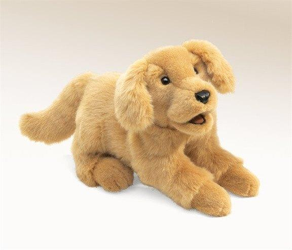 Golden Retriever Puppy Hand Puppet from Folkmanis Puppets - AardvarksToZebras.com