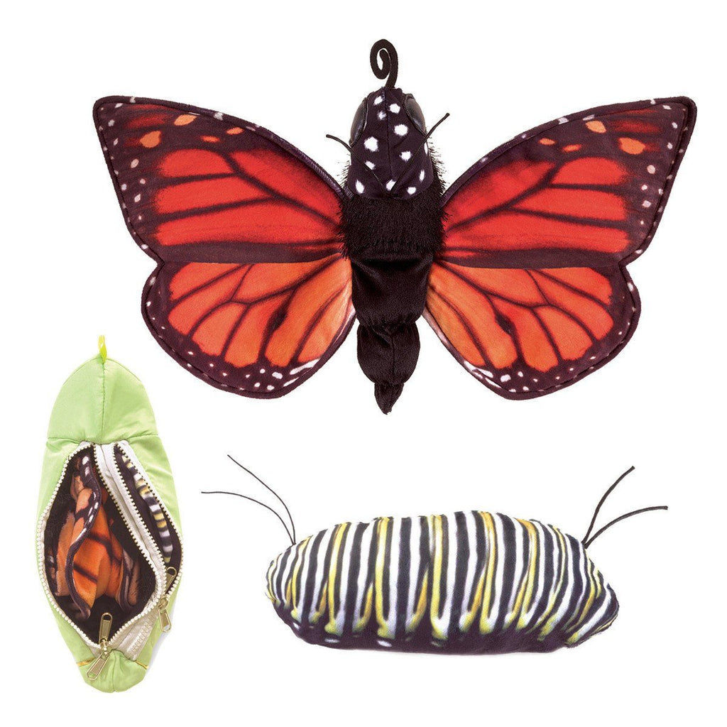 Monarch Life Cycle Puppet from Folkmanis Puppets - AardvarksToZebras.com