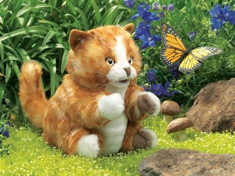 Orange Tabby Cat Kitten Hand Puppet from Folkmanis