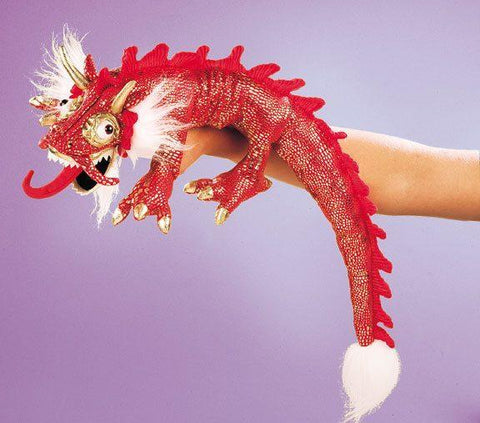 Small Red Dragon Hand Puppet from Folkmanis Puppets