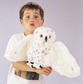 Snowy Owl Hand Puppet from Folkmanis Puppets