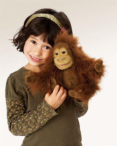 Webwilds Baby Orangutan Puppet from Folkmanis Puppets
