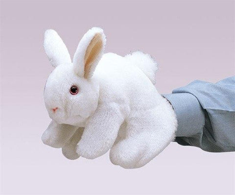 White Bunny Rabbit Hand Puppet from Folkmanis Puppets