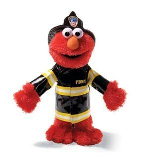 Elmo, 14 in. Fire Fighter, FDNY from Sesame Street® by Gund® - AardvarksToZebras.com