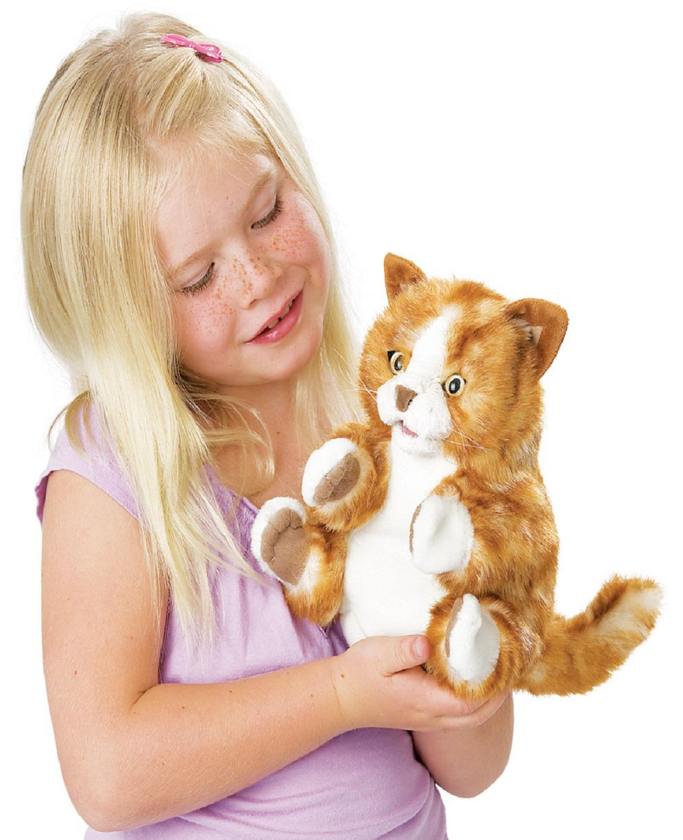 Orange Tabby Cat Kitten Hand Puppet from Folkmanis Puppets