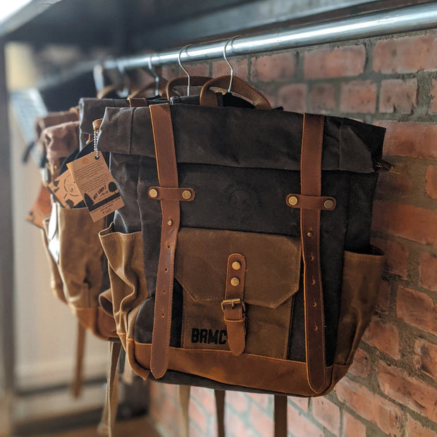BR Waxed Canvas Backpack