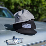 Snapback - Black with White Name Patch