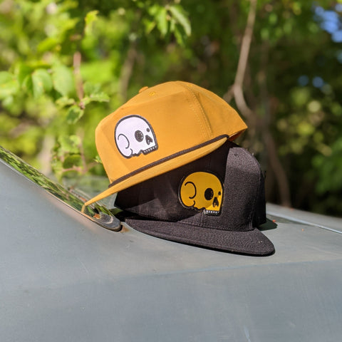Grandpa Snapback - Wheat with White Skull