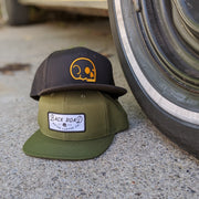 Snapback - Olive with White Name Patch