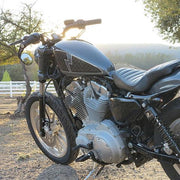 "Biltwell Mustache Bar 1"" Black - Non-Dimpled"