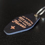 Find Your Freeway Handmade Leather Keychains - Motel Fob