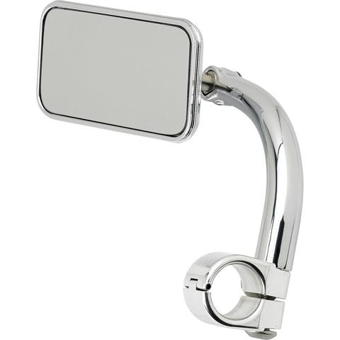 "Biltwell Utility Mirror Rectangle Clamp-On 1"" - Chrome"