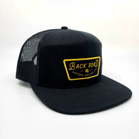 Mesh Back - Black with Yellow Name Patch