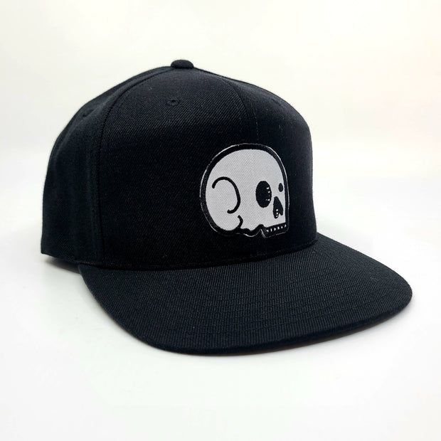 Snapback - Black with White Skull