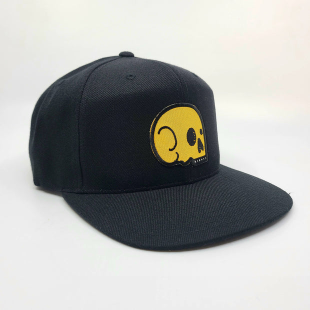 Snapback - Black with Yellow Skull