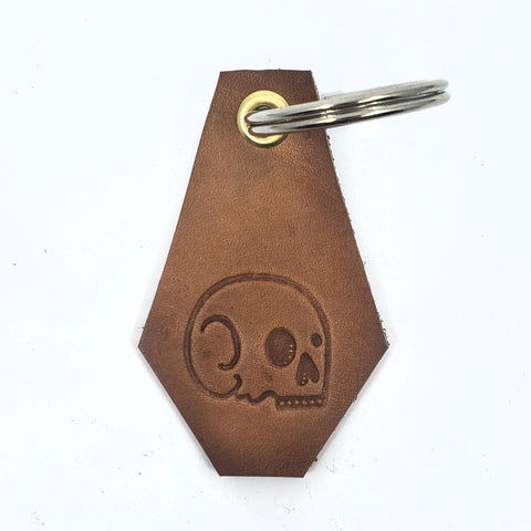 BRMCo Handmade Leather Keychains - Coffins