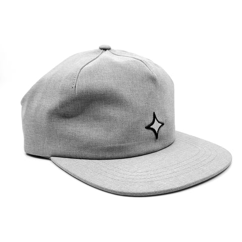 Strapback 1 Panel - Grey Chambray with White Star
