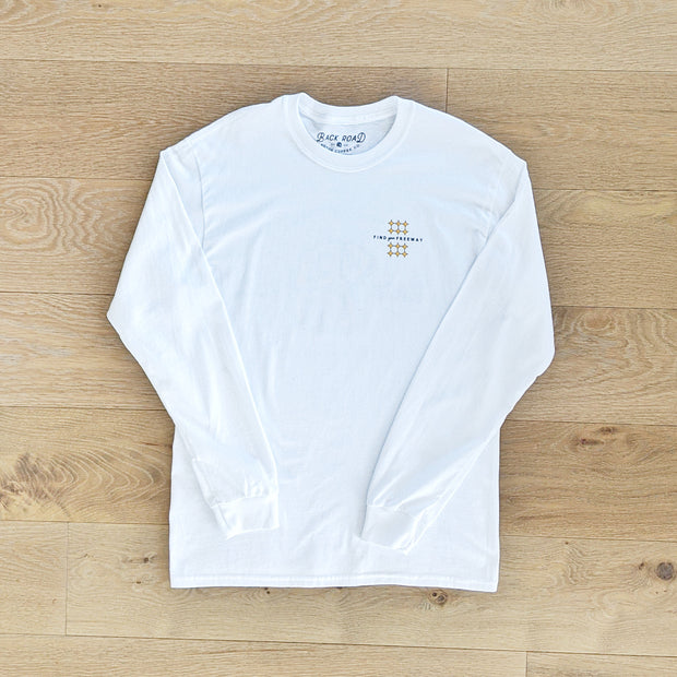 Get Lost White Long Sleeve Tee
