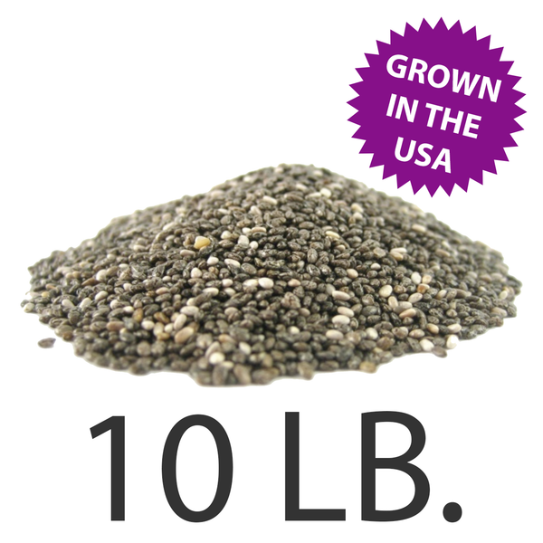 U.S.A. Grown Chia Seeds, 10 lbs., Free Shipping!