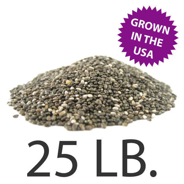U.S.A. Grown Chia Seeds, 25 lbs., Free Shipping!