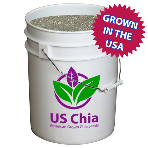 25 lb. Bucket of US grown equine chia seeds