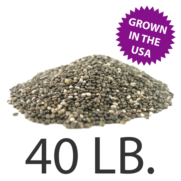 U.S.A. Grown Chia Seeds, 40 lbs., Free Shipping!