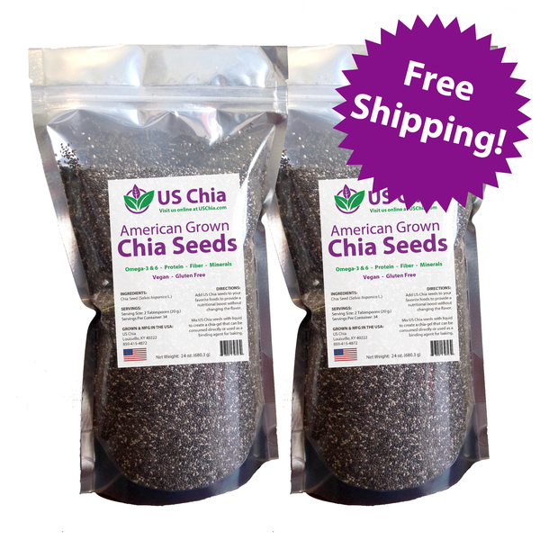 3 lb. of Food grade, US grown chia seeds
