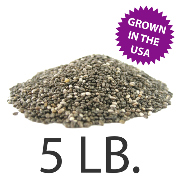 U.S.A. Grown Chia Seeds, 5 lbs., Free Shipping!