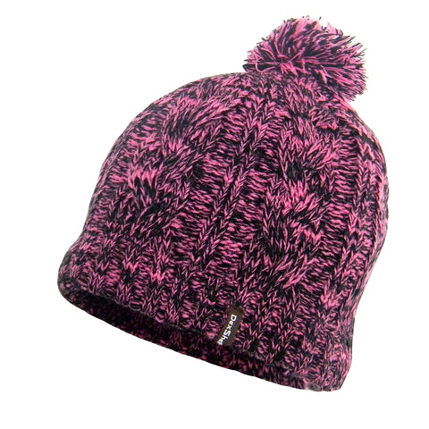 DexShell® Waterproof, Windproof & Breathable Pom Pom Cable Style Beanies Available in Grey, Pink and Tangelo Red
