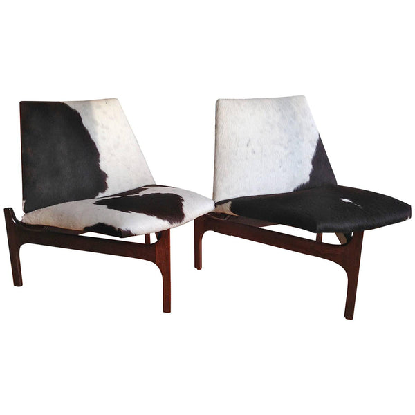 Low Lounge Chairs in Cowhide