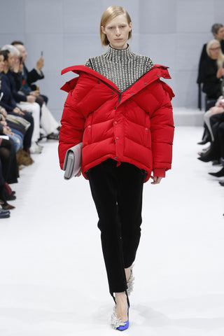 Covet and Lou— Hello Mr. Hoffman: Runway Wrap Up— Balenciaga Fall 2016, Red Puffer