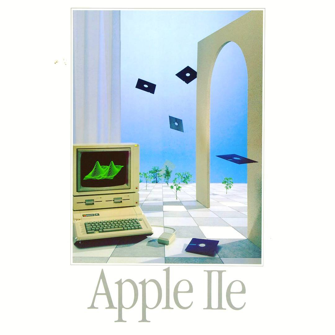 Covet and Lou—Hello Mr.Hoffman—@Nightliquid_retro.inc: 1984 Apple IIE