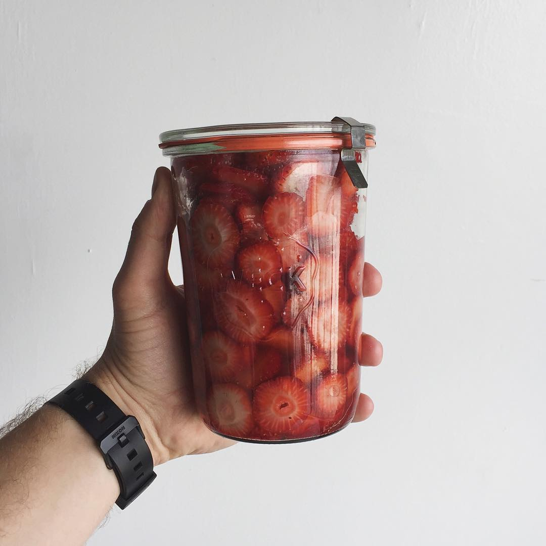 Covet and Lou—Hello Mr.Hoffman—@WitandVinegar: Strawberry Jar